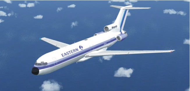 FS X acceleration of the Boeing 727-200