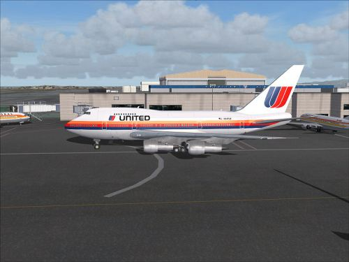 FS2004 united-747 Boeing