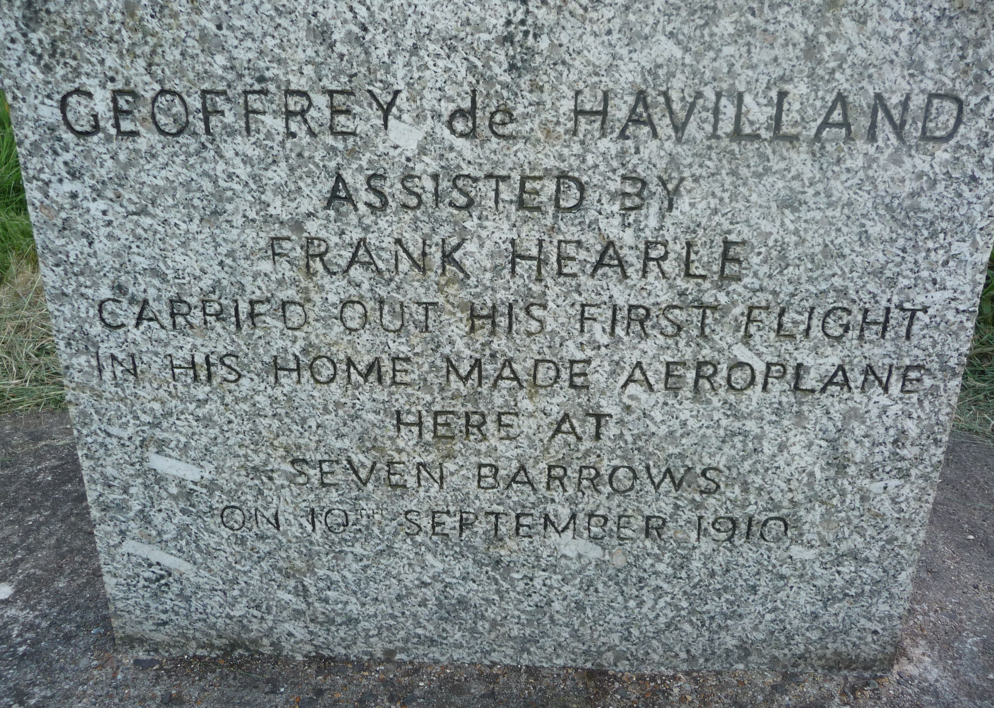 De-havilland-first-flight-memorial-stone