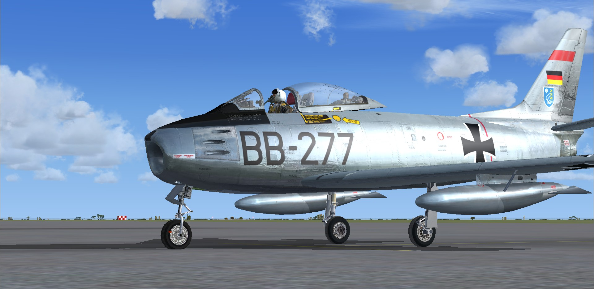 North American F-86EF Sabre FU-385 Luftwaffe