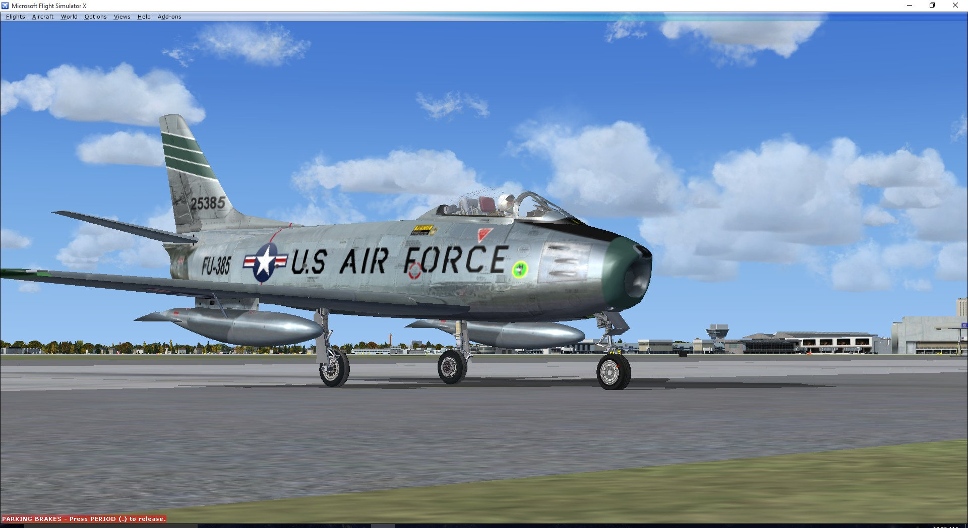 North American F-86F Sabre FU-385 USAF Wolfhounds